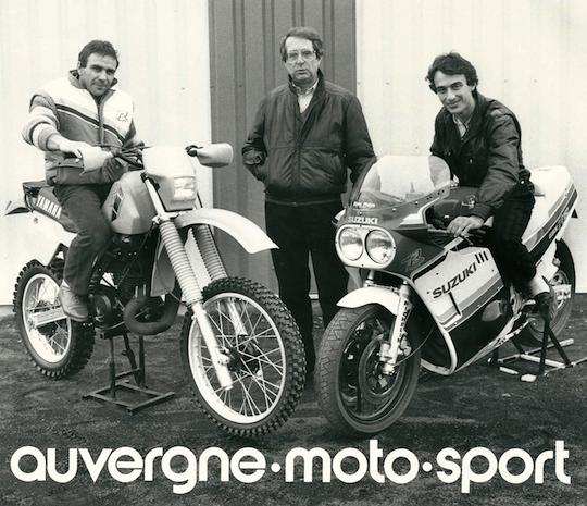 Les fondateurs du Moto Club d'Auvergne